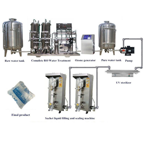 3000-4000BPH Sachet water production line