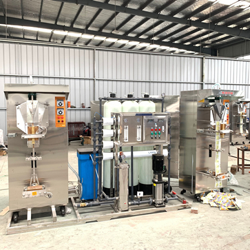 Anhui Keyo Automation Machinery Equipment Co.,Ltd prepare the: 10T/H Ro system, KOYO sachet water packer ship to Sudan