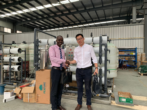 Liberia customer visit our factory